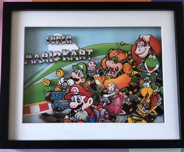 Super Mario Kart Box Art - 3D Art Diorama